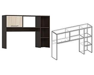 Купить надстройку Мебель Маркет Надставка к столу Берта (Венге/Ясень шимо светлый)
