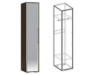 Купить шкаф Мебель Маркет Пенал Берта с зеркалом (Венге/Ясень шимо светлый)