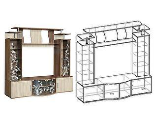 Купить гостиную Мебель Маркет Центральная секция Алегро (Ясень Шимо)