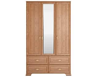 Купить шкаф Ижмебель Венеция 1 для одежды 3-х дв. с ящиками (с зеркалом) клен торонто