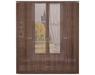 Купить шкаф Ижмебель Париж 2  для одежды с ящиками 4-х дверный с зеркалами