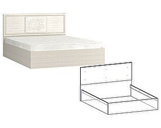 Купить кровать Мебель Маркет Виктория (Джина) 1200, изголовье МДФ