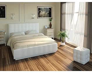 Купить кровать Арника Лорена Легенд Вайт 140х200 (без страз) с подъемным механизмом и ящиком