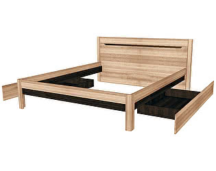 Купить кровать Заречье Афина Мод.А3+А10 (2 ящика бельевой) Дуб Крафт