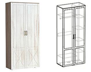 Купить шкаф Мебель Маркет Афина 2х створчатый комбинированный (440)