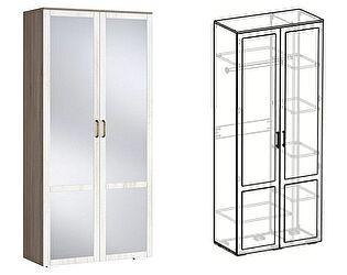 Купить шкаф Мебель Маркет Афина 2х створчатый комбинированный с зеркалом (440)
