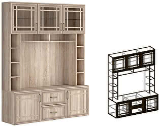 Купить гостиную Мебель Маркет Центральная Бруно секция