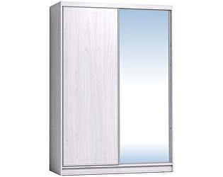 Купить шкаф Глазов 1600 Домашний зеркало/лдсп + шлегель, Ясень Анкор светлый