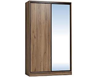 Купить шкаф Глазов 1200 Домашний зеркало/лдсп, Дуб табачный Craft