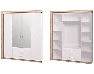 Купить шкаф Ижмебель 4-х дверный с зеркалом Люмен 16