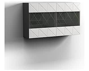 Купить шкаф КМК 2Д Монако 0673.28, Графит/белый глянец