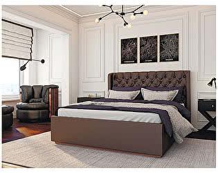 Купить кровать Мебелони Франческа 1,6  под настил ЛДСП, Шоколад