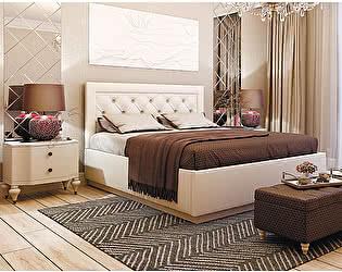 Купить кровать Мебелони Версаль 1,6 под  подъемный механизм, Белая