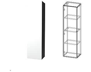 Купить шкаф Сакура Кармен 3 (антрацит/белый глянец МДФ)