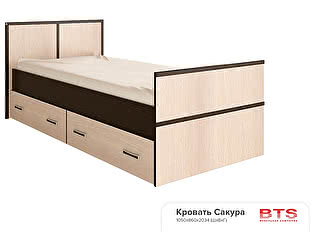 Купить кровать BTS Сакура 90, с настилом ДСП, без матраса