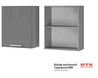Купить шкаф BTS Мята, Имбирь, Карри 6В1 настенный 1-дверный