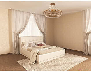 Купить кровать Арника Локарно 140х200 с латами интерьерная кожаная