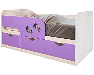 Купить кровать BTS Кровать «Минима Лего», лиловый сад