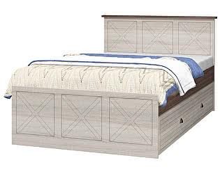 Купить кровать Интеди Калипсо ИД 01.502+01.502А с настилом+ящик (120)