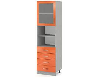 Купить шкаф Баронс Групп Гамма КП.005.500-02/04, 1 дверь витрина 4 ящика ниша