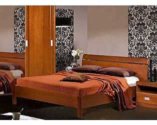 Купить кровать Бобруйскмебель Валенсия с заглушкой спинка-решетка (160), БМ-1601