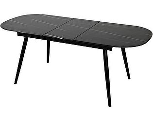 Купить стол Bradexhome Marble раздвижной, чёрный мрамор