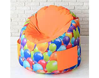 Купить пуф Декор Базар в детскую Воздушные шарики оранжевый