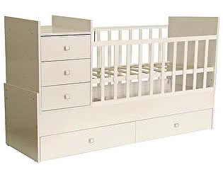 Купить кровать Polini Кроватка-трансформер Polini kids Simple 1000 с комодом