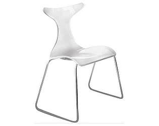Купить стул Dupen 1002 хром/белый