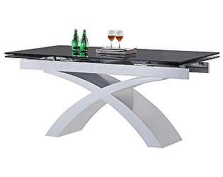 Купить стол Dupen ALF25 металлик/черный