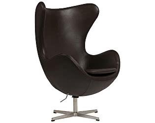 Купить кресло DG-Home Egg Chair Тёмно-коричневое Кожа Класса Премиум
