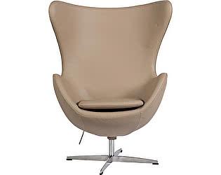 Купить кресло DG-Home Egg Chair Темно-бежевое Кожа Класса Премиум