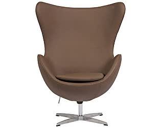 Купить кресло DG-Home Egg Chair Коричневое Кожа Класса Премиум