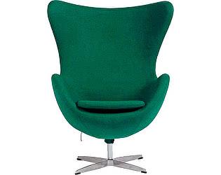 Купить кресло DG-Home Egg Chair Зелёно-голубое 100%  Шерсть