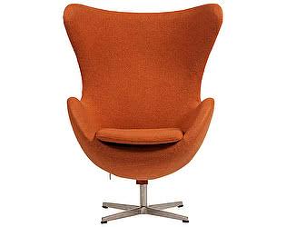 Купить кресло DG-Home Egg Chair Оранжевое 100%  Шерсть