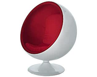 Купить кресло DG-Home Eero Ball Chair Бело-красное Шерсть