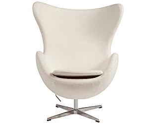 Купить кресло DG-Home Egg Chair Белое 100% Кашемир