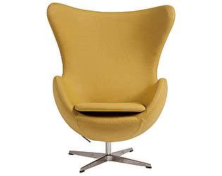 Купить кресло DG-Home Egg Chair Жёлтое 100% Кашемир