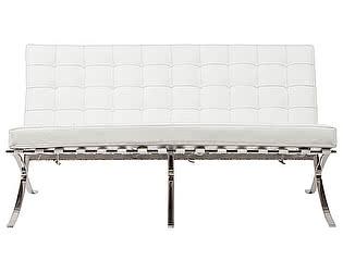Купить диван DG-Home Barcelona Двухместный Белый Кожа Класса Премиум