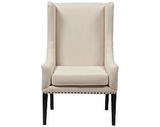 Купить кресло DG-Home Nailhead Fabric Armchair Белый Лен