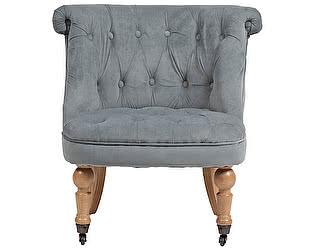 Купить кресло DG-Home Amelie French Country Chair Серо-синий Вельвет