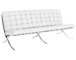 Купить диван DG-Home Barcelona Трехместный Белая Экокожа