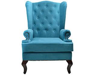 Купить кресло DG-Home Каминное с ушами Велюр Бирюзовый