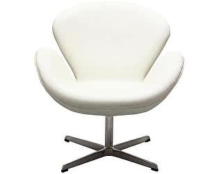 Купить кресло DG-Home Swan Chair Белая Экокожа