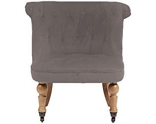 Купить кресло DG-Home Amelie French Country Chair Серо-Коричневый Велюр