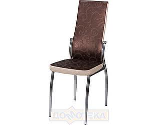 Купить стул Домотека Милано D4/В1 коричневый (темная бронза) с узором/бежевый