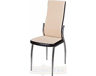 Купить стул Домотека Милано А-1/В-4 светло-бежеый с эффектом замши/венге, повышенной комфортности