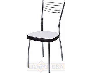 Купить стул Домотека Омега-1 В-0/В-4 искрящийся белый/черный венге, повышенной комфортности