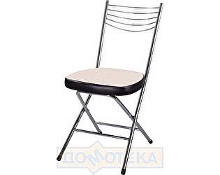 Купить стул Домотека Омега-1 скл. F-1/В-4 светло-бежевый с плетеной текстурой/венге