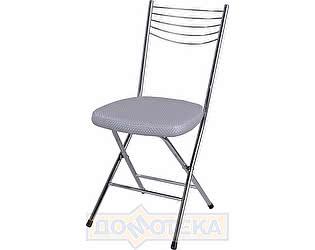 Купить стул Домотека Омега-1 скл. F-7/F-7 серебристый с плетеной текстурой, повышенной комфортности